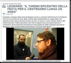 LEONARDI TARDINI EPICENTRO CENTENARIO
