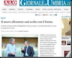 giornale dell'umbria nuovo allenatore scelto con il Parma 7 maggio