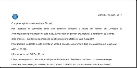 Compensi CDA Napoli 2012-2013