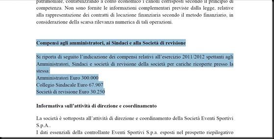 Compensi CDA Parma 2011-2012