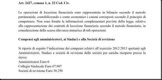 Compensi CDA Parma 2012-2013