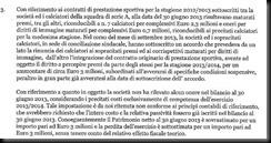 RILIEVO Relazione società di Revisione Accordo rinuncia ai premi 2012-2013