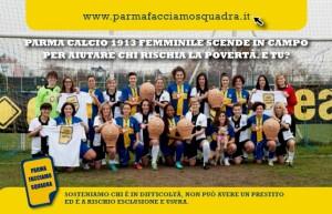 cartolina parma calcio 1913 femminile per parma facciamio squadra 1