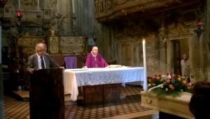 funerale maestro tonino fereoli, commemorazione di Andrea Rinaldi