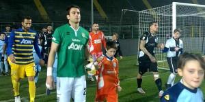 Frattali ingresso in campo Albinoleffe Parma