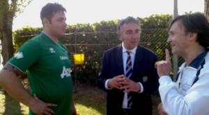 Il portiere goleador Mirco Procino, Gabriele Majo e Mister Stefano Cavalli
