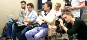 GIORNALISTI CONFERENZA STAMPA LUCARELLI