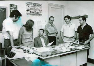 Guglielmo Moretti in redazione