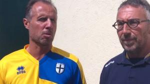 Roberto Bucchioni e Gabriele Majo dopo Pro Vercelli Parma