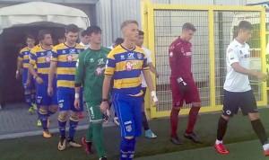 Primavera Spezia parma ingresso squadre in campo