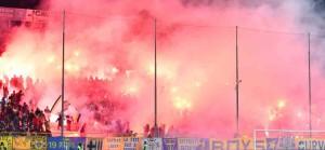 curva nord ingresso in campo Parma Spezia