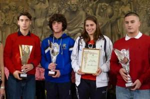 de rinaldis e gli altri giovanissimi premiati alla Corale Verdi