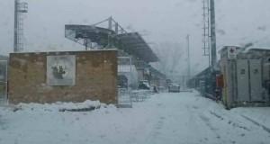 neve al complesso sportivo il noce