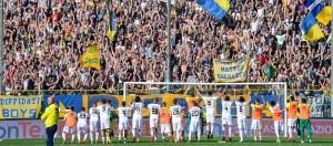 Parma Frosinone soto la Curva Nord