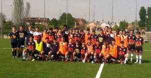 Under 13 allenamento congiunto Parma Levante Azzurro