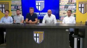 sebastian ghisolfi, michele saltori, luca piazzi, pasquale catalano, claudio gabetta presentazione settore giovanile 2018-19