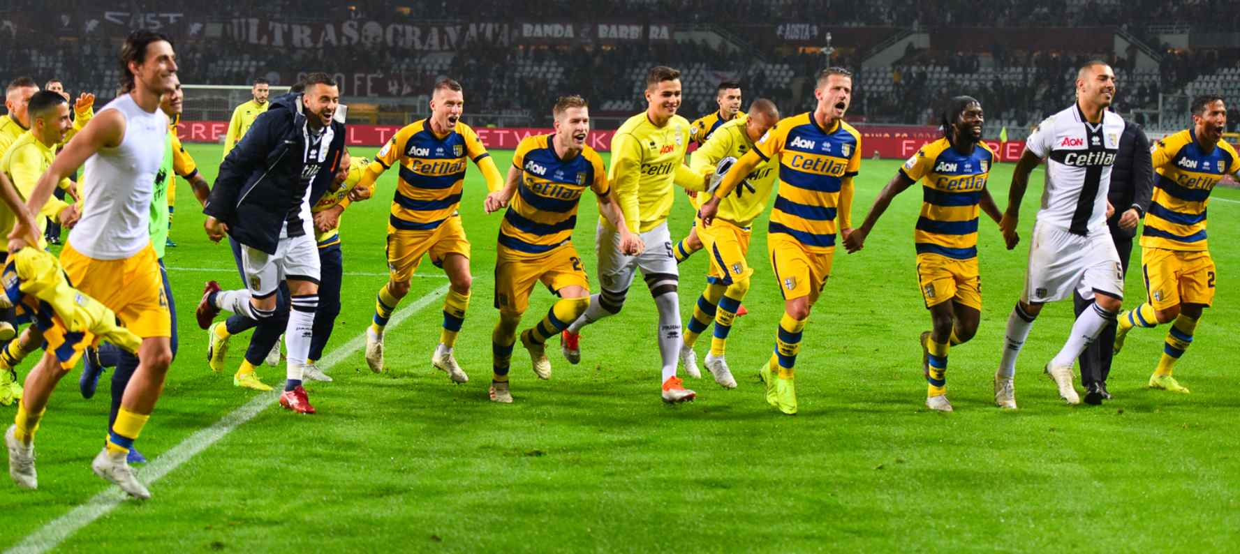 torino parma esultanza finale - Stadio Ennio Tardini Parma
