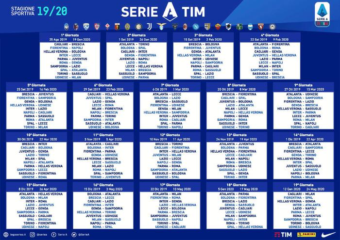 Calendario Pizzica.Serie A Ecco Il Calendario Parma Inizio A Tinte Zebrate