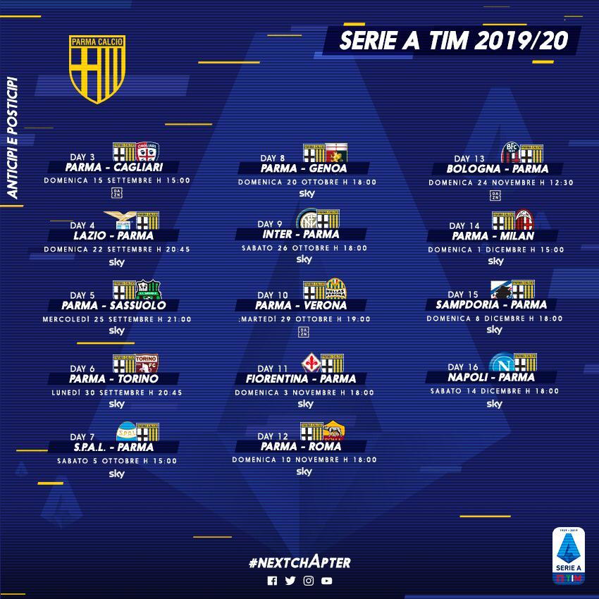 Calendario Serie A 16 Ottobre.Serie A Anticipi E Posticipi Dalla 3 Alla 16 Giornata