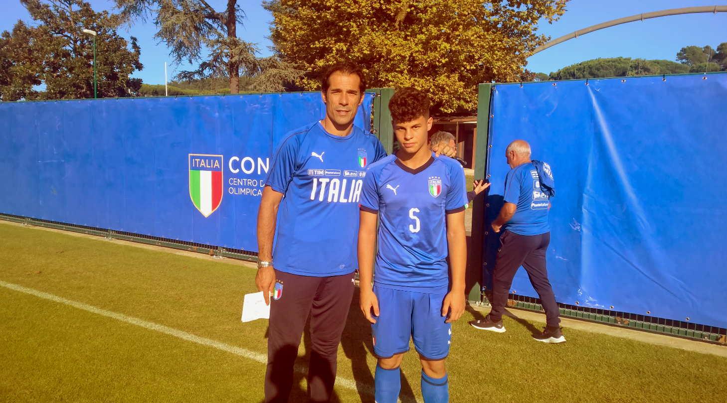 bernardo corradi ed alessio pezzella selezione centro italia under 15 roma 17 10 2019