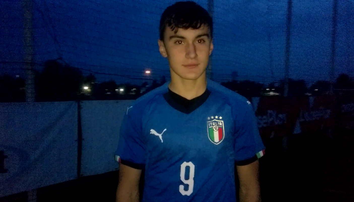 Giacomo Marconi intervista dopo Italia U 15 vs Roma U 15 07 11 2019