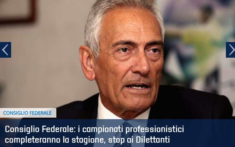 FIGC CONSIGLIO FEDERALE GRAVINA