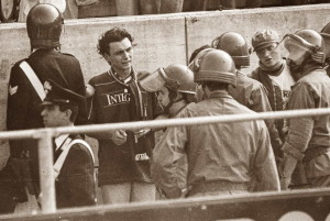 fascia striscione sottratto ultras ghetto derby parma reggiana 1990