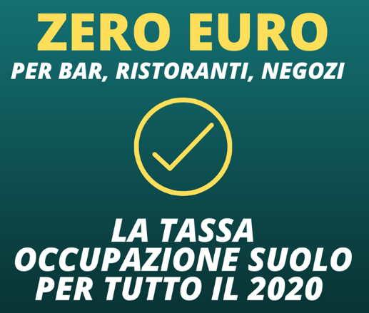 zero euro tassa occupazione fidenza per bar ristoranti