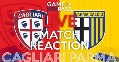 CAGLIARI-PARMA, GAMEPASS DIRETTA LIVE REACTION (Video Papirus Ultra)