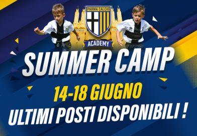 PARMA ACADEMY SUMMER CAMP AL TARDINI E CAMPI STUARD: ULTIMI POSTI DISPONIBILI PER LA 1^ SETTIMANA (14-18 GIUGNO)